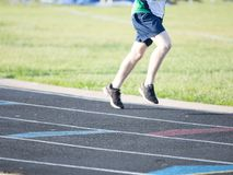 Curved Running Track Royalty Free Stock Photography
