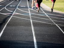 Curved Running Track Stock Photos
