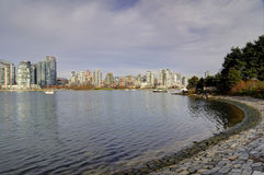 Curved seawall in False Creek Stock Photos