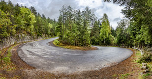 Curved serpentine mountain road Royalty Free Stock Images