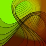 Curved shapes superimposed Stock Images
