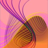 Curved shapes superimposed Royalty Free Stock Image