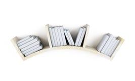 Curved shelf with books. 3d. Curved shelf with books  on white background. 3d illustration Stock Images