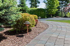 Curved Sidewalk with Light Royalty Free Stock Photos