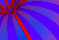 Curved space. Abstract image of curved space Royalty Free Stock Image