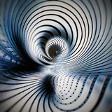 Curved spiral metallic abstract background Stock Photography