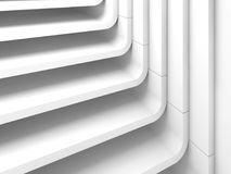 Curved stairs. 3d illustration background. White abstract modern architecture background, curved stairs. 3d illustration Royalty Free Stock Image