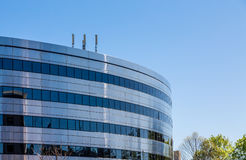 Curved Steel and Glass Office Royalty Free Stock Images