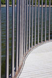 Curved Steel Railing. Curved Stainles Steel Railing stock image