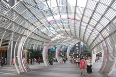 Curved steel structure building in SHENZHEN nanshan central square. Curved steel structure building is located in shenzhen nanshan district central square Royalty Free Stock Image