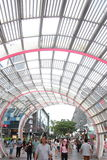 Curved steel structure building in SHENZHEN nanshan central square Royalty Free Stock Image
