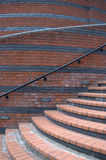 Curved Steps. Curved brick steps and wall royalty free stock photo