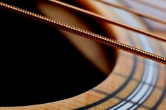 Curved and Straight lines. Guitar close-up stock images