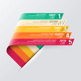 Curved stripes design template Stock Image