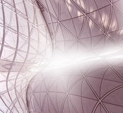 Curved Structure. And Wall Panels Stock Photography