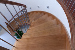 Curved Timber Stairs Balustrade Walls Stock Photos
