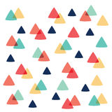 Curved Triangle pattern pastel color Royalty Free Stock Photos