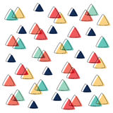 Curved Triangle pattern pastel color and outline overlap Royalty Free Stock Image