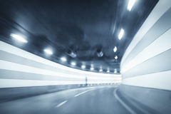 Curved tunnel background Royalty Free Stock Photos