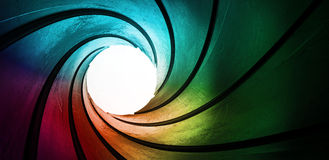 Curved tunnel Stock Photos