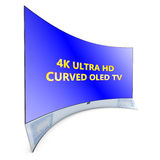 Curved tv Stock Photo