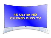 Curved tv Royalty Free Stock Images