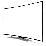 Curved tv Stock Image