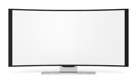 Curved tv Stock Photography