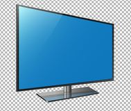 Curved tv. 4k Ultra HD screen, led television isolated transparancy background.  royalty free illustration