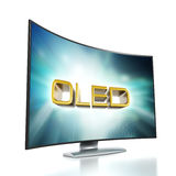 Curved TV with OLED screen Royalty Free Stock Photo