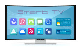 Curved tv Royalty Free Stock Photo