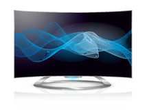 Curved TV waves screen Royalty Free Stock Photo