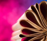 Vintage book pages Royalty Free Stock Images