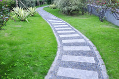 Curved walking path Royalty Free Stock Photo