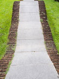 Curved Walkway in the park Stock Images