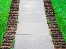 Curved Walkway in the park Royalty Free Stock Image