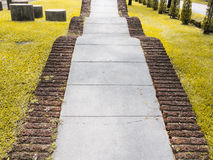 Curved Walkway in the park Stock Photo