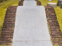Curved Walkway in the park Stock Image