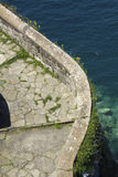 Curved walkway in Sorrento, Italy. Royalty Free Stock Images
