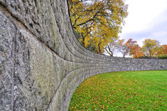 Curved wall Royalty Free Stock Images