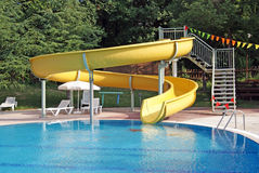 Curved Water Slide Royalty Free Stock Photos
