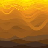 Curved wavy lines in brown and yellow shades. Royalty Free Stock Photos
