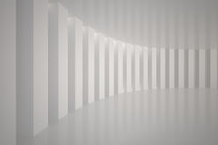 Curved white room Royalty Free Stock Image