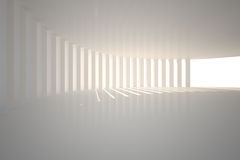 Curved white room with light Stock Image