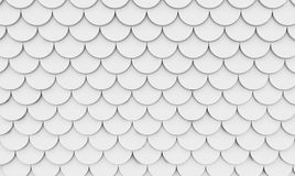 Curved white tile flooring, texture background, 3d illustration.  Royalty Free Stock Images