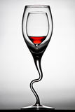 Curved wine glasses Royalty Free Stock Image