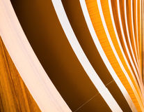 Curved wood stacked in rows. Stock Photo