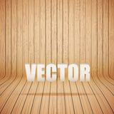 Curved wooden background interior. Vector Royalty Free Stock Photography