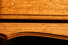 Curves. Closeup of wooden furniture royalty free stock image