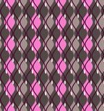 Curves, abstract, decorative background, seamless, dark gray, vector. Vertical pink and gray diamonds with rounded corners on a dark gray field.  Geometric Stock Photos